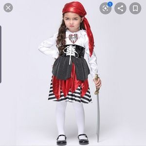 Girls Pirate Costune- 5-7 years old